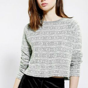 Urban Outfitters Cropped Crewneck Sweater
